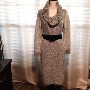 Calvin Klein Sweater Dress-Grey and White_Size Med